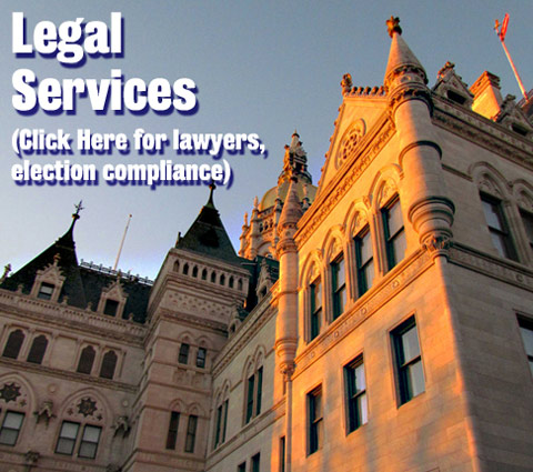 Legal Services (Click Here for lawyers, election compliance)