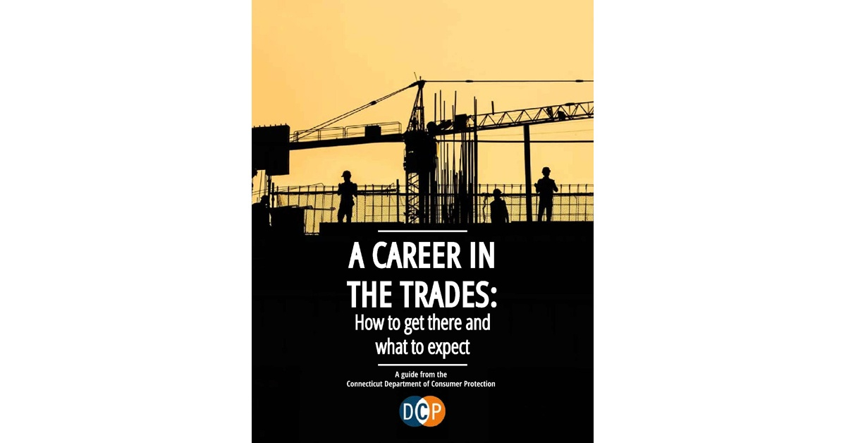 """The cover of """"A Career in the Trades: How to get there and what to expect,"""" is shown here."""